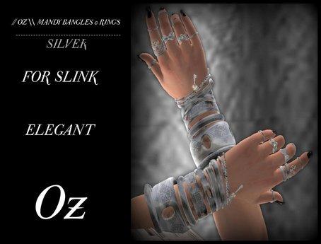 // OZ \\ MANDY RINGS FOR SLINK ELEGANT - SILVER