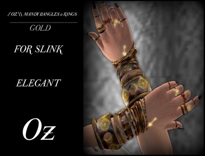 // OZ \\ MANDY RINGS FOR SLINK ELEGANT - GOLD