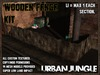WOODEN FENCE KIT - MESH - URBAN JUNGLE