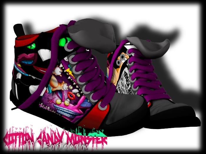 {C.C.M.} Cartoon Mesh Sneakers - Ahhh! Monsters