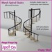 Spot On Mesh Spiral Stairs