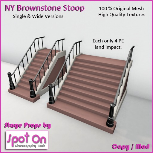 Spot On Mesh NY Brownstone Stoop Stairs