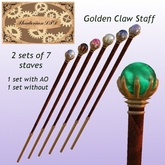 Thadovian LTD Golden Claw Staves - Full Set box