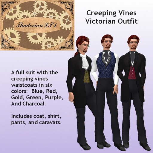 Thadovian LTD Creeping Vines Victorian Outfit -  tagSteampunk