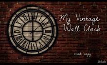 My Vintage Wall Clock (mesh) - Bokeh