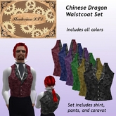 Thadovian LTD Waistcoat - Chinese Dragon - full Set tagSteampunk