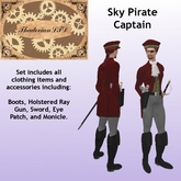 Thadovian LTD Sky Pirate Captain outfit