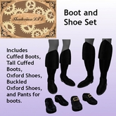 Thadovian LTD Steampunk Victorian or Pirate Boot and Shoe Set