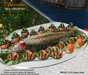 Aphrodite seafood: Rainbow smoked trout platter with menu