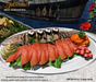 Aphrodite seafood: Grilled trout and smoked trout sushi platter