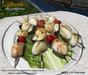 Aphrodite seafood: assorted fish & veggies kebabs platter