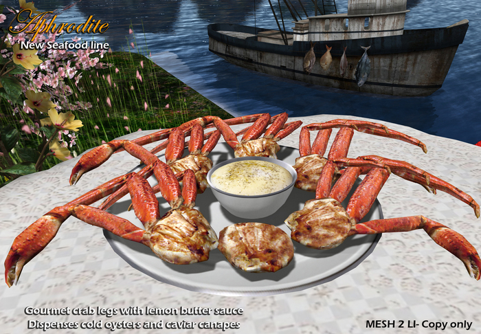 Aphrodite seafood: Crab legs platter for buffet or catering