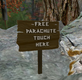 Free Parachute Sign