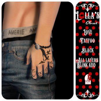 :LoLla's: Closet Tattoo H {Love Black}
