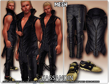 *DAFNIS GOTHIC VEST AND PANTS FOR MALE