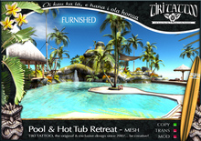 Tiki Tattoo - COPY/Furnished - Pool & Hot Tub Retreat tropical -  Mesh
