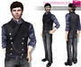 Full Perm Rigged Mesh Men's Pinkerton Vest with Shirt Combo