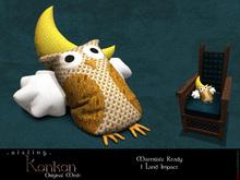 . a i s l i n g . Konkon (Owl Cushion)