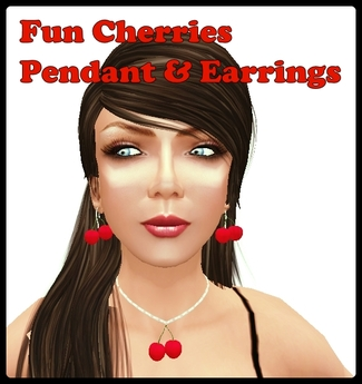Cherry Earrings & Pendant BOXED