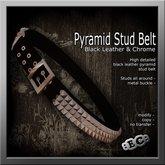 E&C Black Pyramid Stud Belt