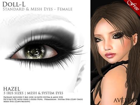 AVELINE Mesh Eyes - Doll-L - Hazel v2.0 (BOXED)