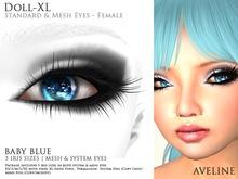 AVELINE Mesh Eyes - Doll-XL -Baby Blue v2.0 (BOXED)