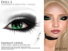 AVELINE Mesh Eyes - Doll-L - Emerald Green v2.0 (BOXED)