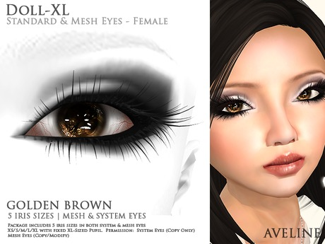AVELINE Mesh Eyes - Doll-XL -Golden Brown v2.0 (BOXED)