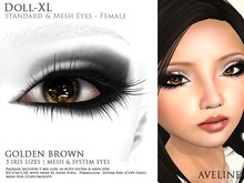 AVELINE Mesh Eyes - Doll-XL -Golden Brown v2.0 (BOXED)