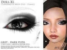 AVELINE Mesh Eyes - Doll-XL -Grey - Dark Pupil v2.0 (BOXED)