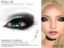 AVELINE Mesh Eyes - Doll-XL - Emerald Green v2.0 (BOXED)
