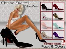 !FP! Classic Stilettos High Heels - HUD 8 Colors - Slink MID Feet - Unrriged Mesh Scarpin
