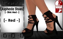[Kaos] Asphexia Shoes - Slink Med - Red