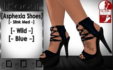 [Kaos] Asphexia Shoes Wild - Slink Med - Blue