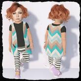 KiddyWinks [TD Clothing!] * Boho Cardy [Teal] MESH