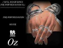 // OZ \\ MANDY RINGS SILVER FOR WOWMEH HANDS V.3.1