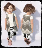 KiddyWinks [TD Clothing!] * Boho Cardy [Grey] MESH