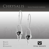 (Style Society) Chrysalis Black Diamond Earrings