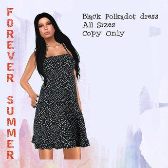 FOREVER SUMMER Black Polkadot Dress(all sizes)