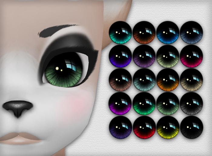 Kemono Reflective Eyes - 20 Colors