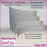 Spot On Backdrop - Curved Mesh - 4 pack (full perm)