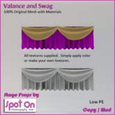 Spot On Mesh Valance & Swag Set with Materials
