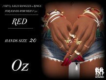 // OZ \\ SALLY BANGLES & RINGS RED HANDS WOWMEH V 3.1