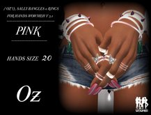 // OZ \\ SALLY BANGLES & RINGS PINK HANDS WOWMEH V 3.1
