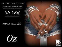 // OZ \\ SALLY BANGLES & RINGS SILVER HANDS WOWMEH V 3.1