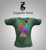 T shirt - Geometric Green - Zeppelin Store -