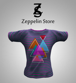 T Shirt - Geometric Purple - Zeppelin Store