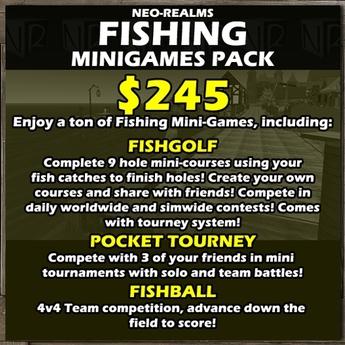 Neo-Realms Fishing Minigames Pack (FishGolf, FishBall, Pocket Tourneys)