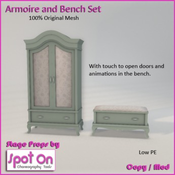 Spot On Armoire & Bench Set