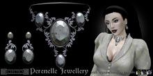 Eclectica Perenelle Gothic Jewellery Set- Dove Grey